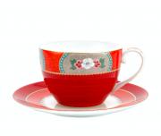 Xicara de Chá com Pires Vermelho Blushing Birds- Pip Studio