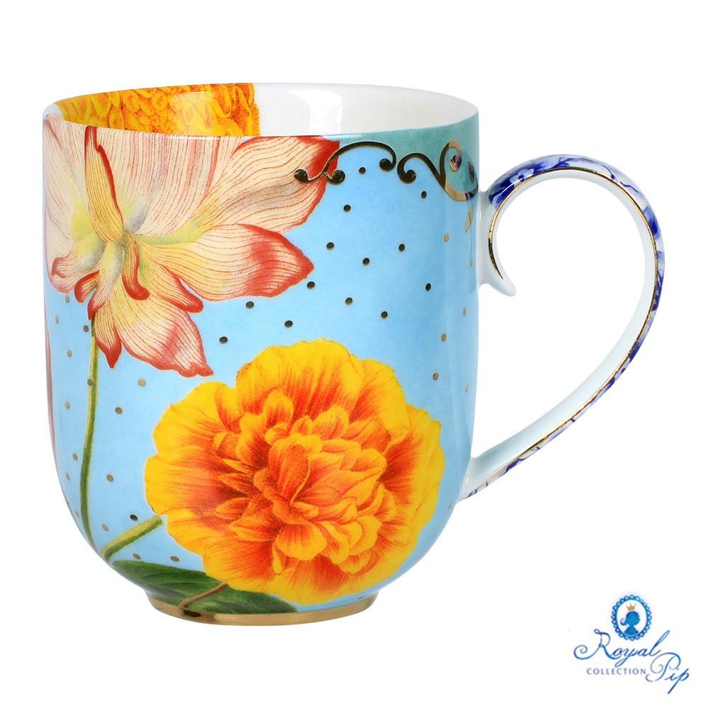 Caneca Grande Flowers - Royal
