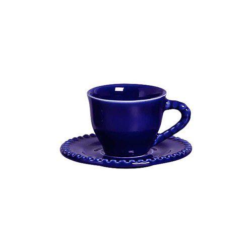 Conjunto 06 Xícaras Chá Bolinha Azul