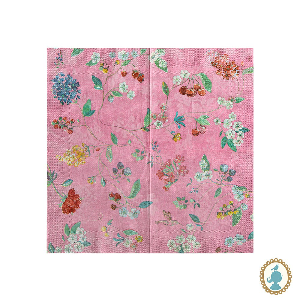 Guardanapo Hummingbirds Rosa 20 Unidades - Floral