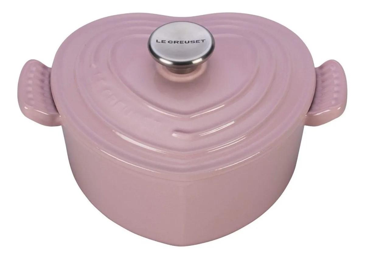 Panela Coração Chiffon Pink 20 cm