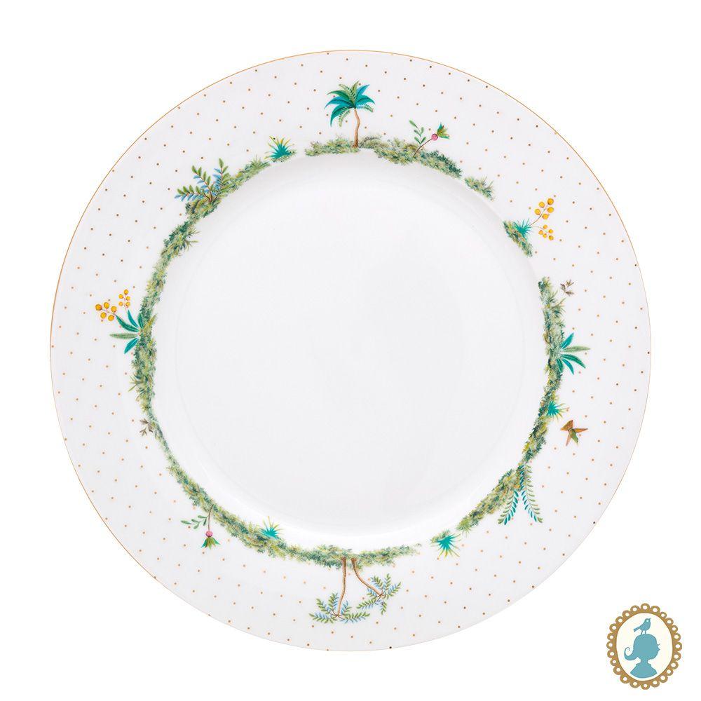 Prato de Jantar Dots Branco - Jolie