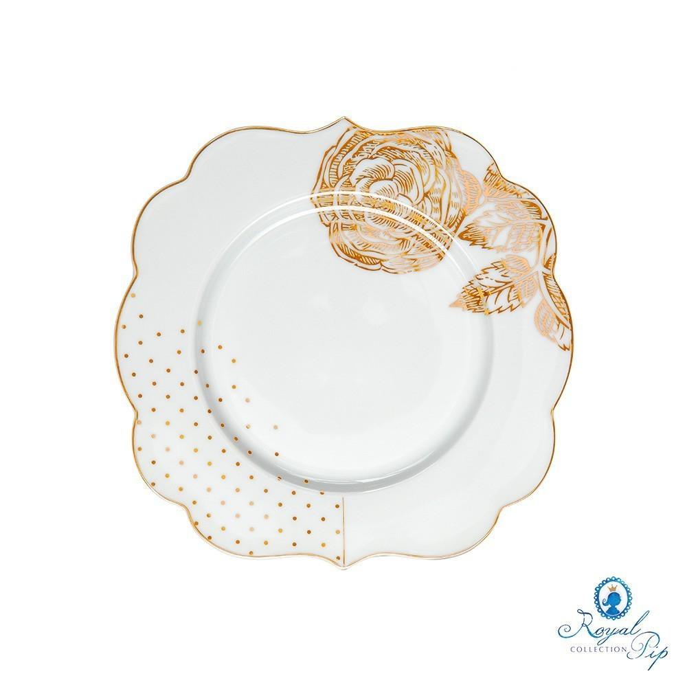 Prato de Pão Flowers - Royal White