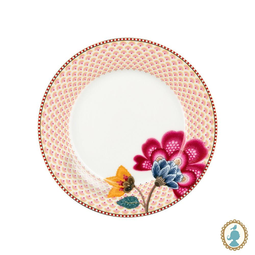 Prato de Sobremesa Branco - Floral Fantasy