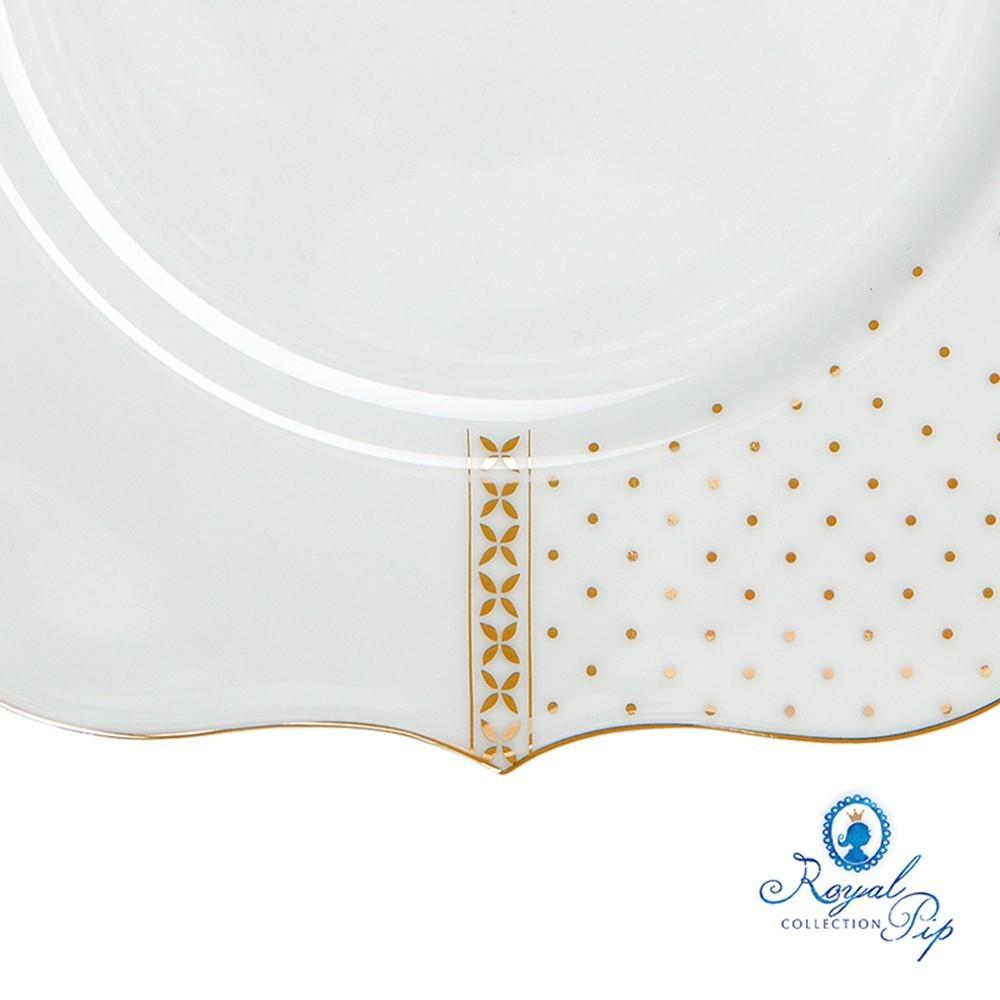 Prato de Sobremesa Flowers - Royal White