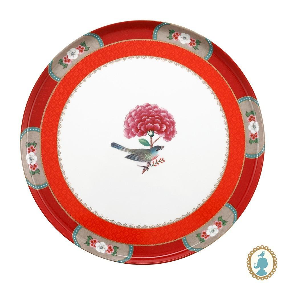 Prato p/ Bolo Vermelho - Blushing Birds