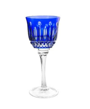 Taça de Cristal para Licor Azul Escuro 60 ml