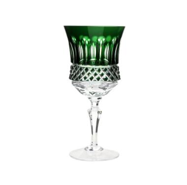 Taça de Cristal para Vinho Branco Verde Escuro 330 ml