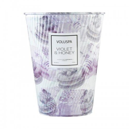 Vela Voluspa Lata Cone 100h Violet e Honey