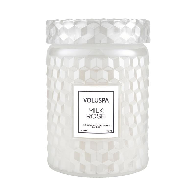 Vela Pote Vidro G 100H Milk Rose