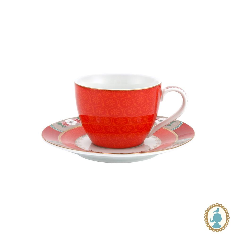 Xícara de Cafezinho Vermelho - Blushing Birds