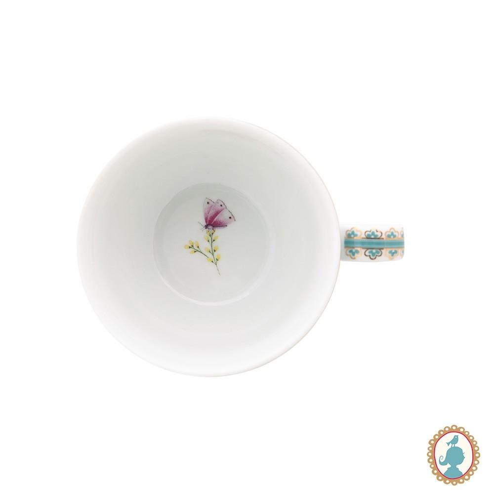 Xícara de Chá Azul - Blushing Birds