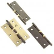 Conjunto de Dobradiça de Aço c/ Anel Para Porta - 3x2 1/2  L.O.   3 unidades c/ Parafuso