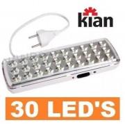 Luminária de Emergência c/ 30 LEDs Bivolt Kian