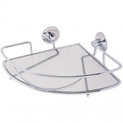 Porta Shampoo de Canto c/ Vidro Versailles Moldenox