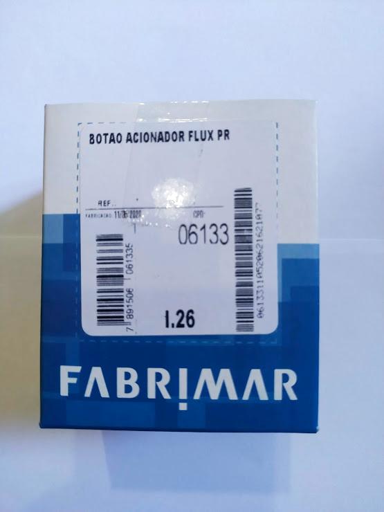 Botão Acionador Flux Preto Fabrimar