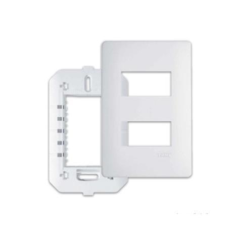 Fame Habitat Placa 4 x 2 2 Interruptores Separados C/ Suporte