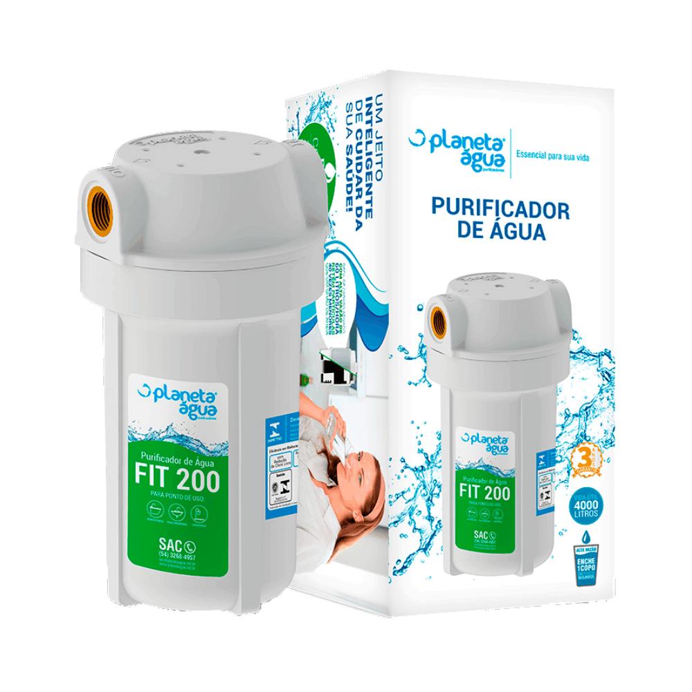 "Filtro Purificador de Água Fit 200 1/2"" Branco - Planeta Água"