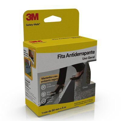 Fita Antiderrapante 3M Safety-Walk Cinza 50mm x 5m