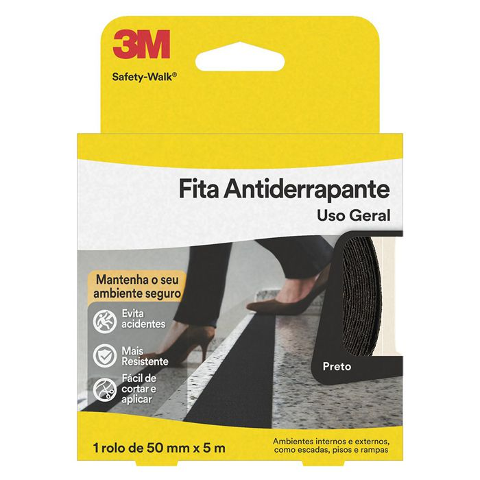 Fita Antiderrapante 3M Safety-Walk Preta 50mm x 5m