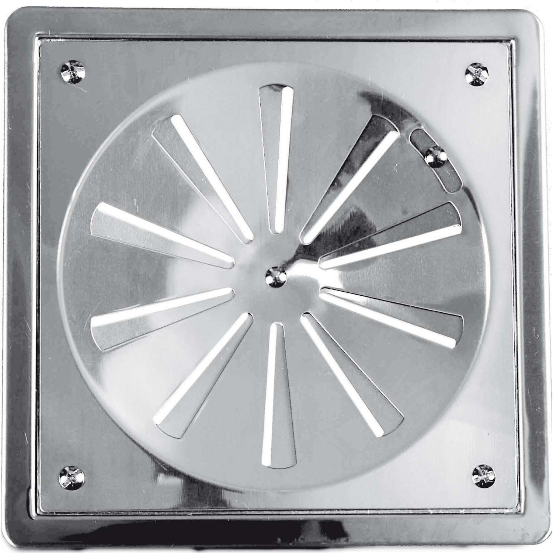 Grelha 10cm x 10cm Rotativa c/ Caixilho Fabrimar