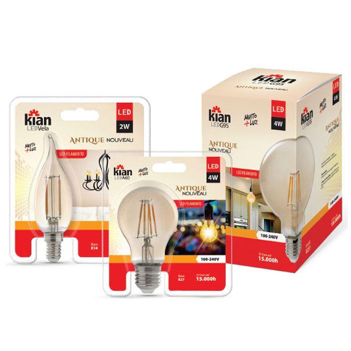 Lâmpada LED Filamento G95 4w 2.2k E27