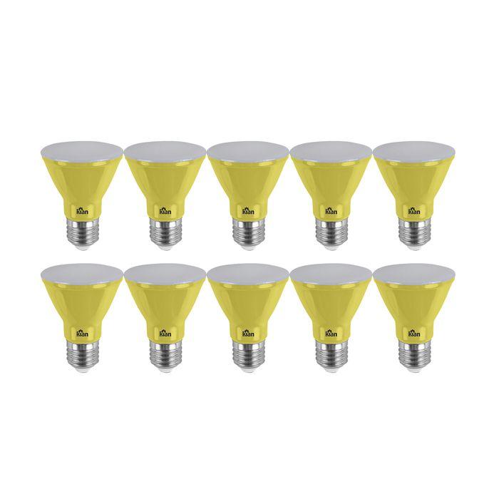 Lâmpada LED Par 20 6w Amarela  Bivolt E27 Kian