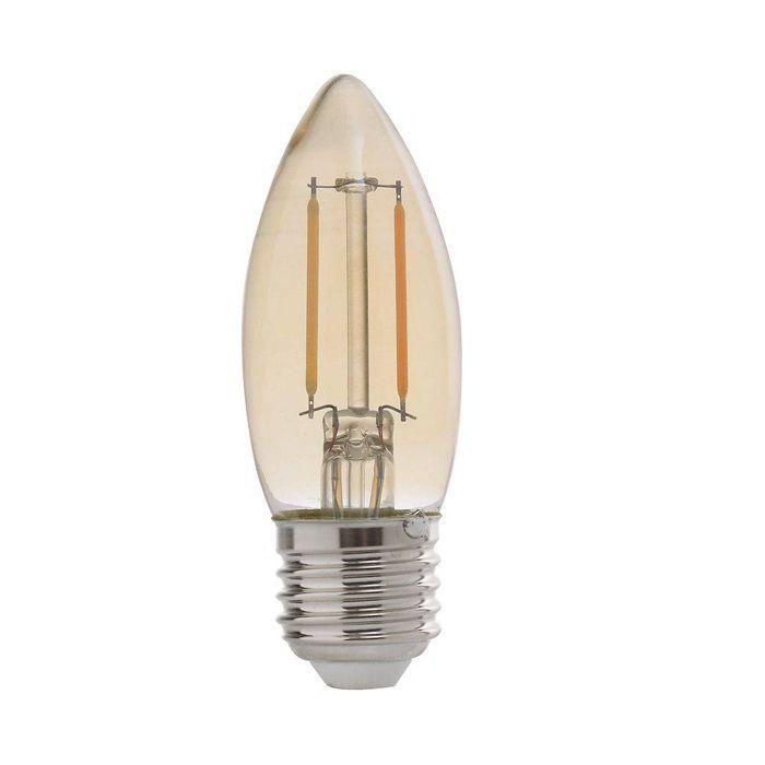 Lâmpada LED Vela 2w 2200k Bivolt E27