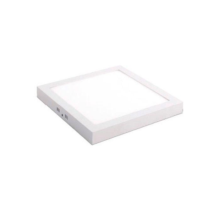Luminária de Sobrepor LED Quadrada Slim 24w 6000k Branca Kian