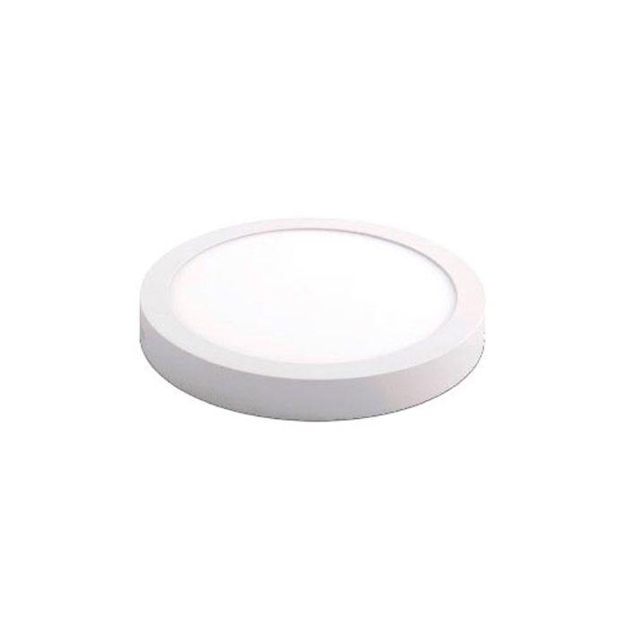 Luminária de Sobrepor LED Redonda Slim 24w 6000k Branca Kian