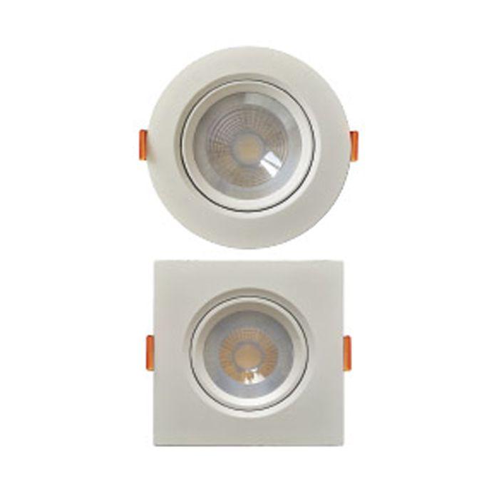 Luminária spot Fênix 2 Par 20 Redonda 7w 6000k Branca Kian bivolt