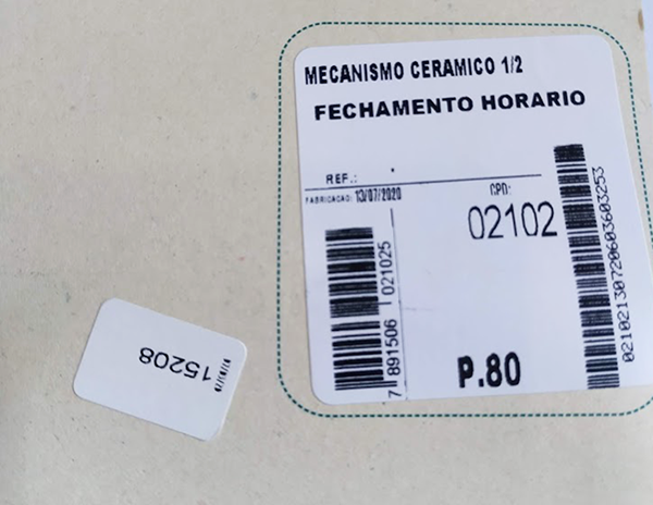Mecanismo Ceramico 1/2 Volta Fechamento Horário Fabrimar