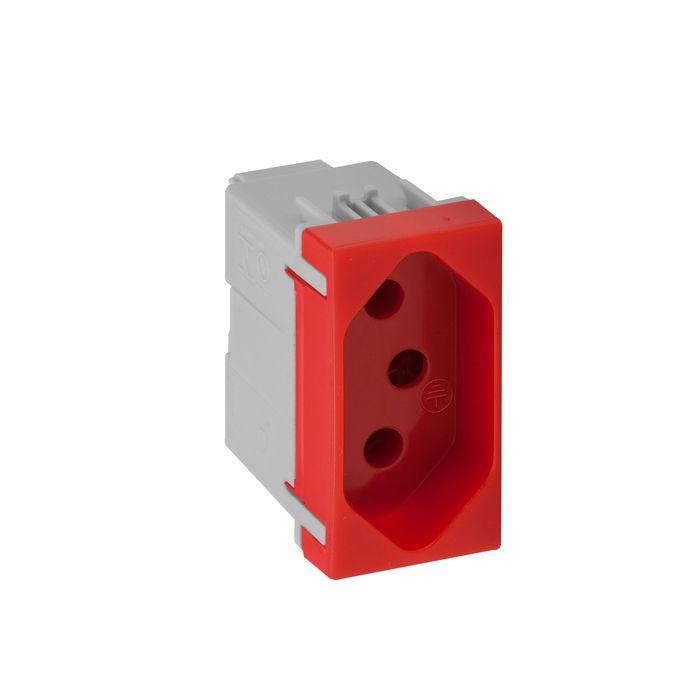 Modulo tomada 2P+T 20A Vermelho Pial Plus +