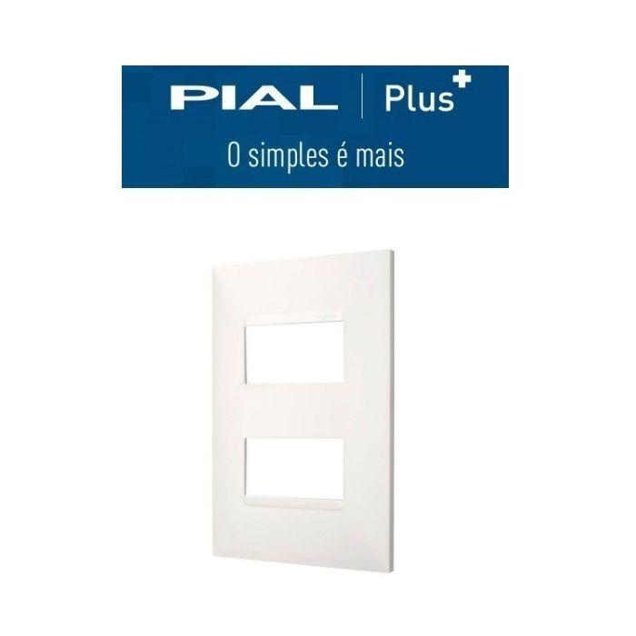Pial Plus + Placa 4x2 2 Interruptores Separados