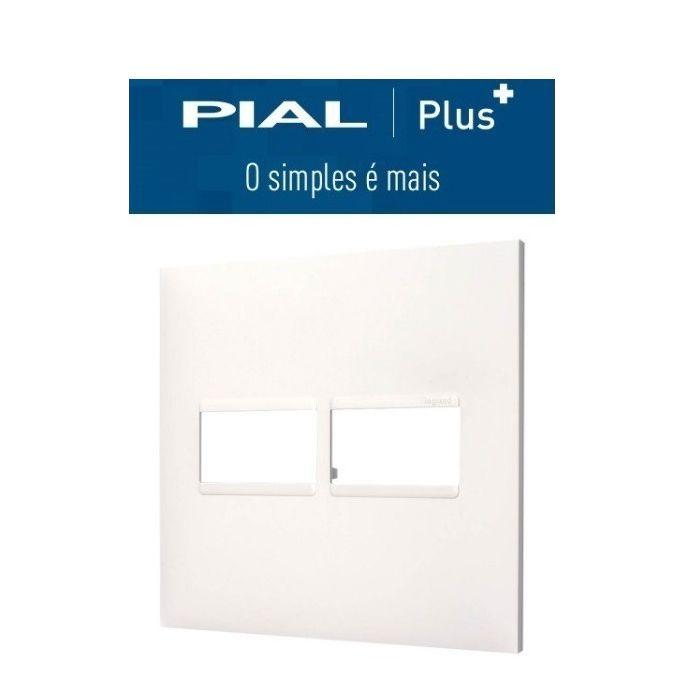 Placa 4x4  2 Interruptores Pial Plus +