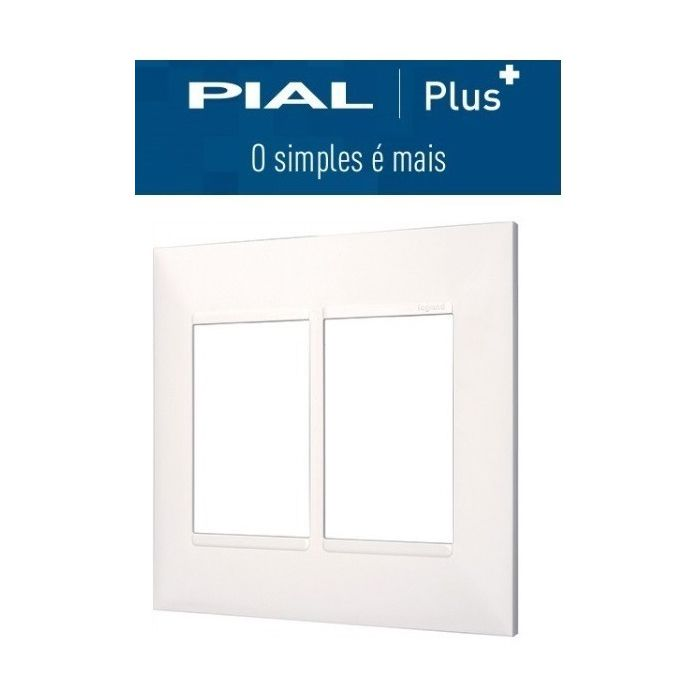 Placa 4x4  6 Interruptores Pial Plus +