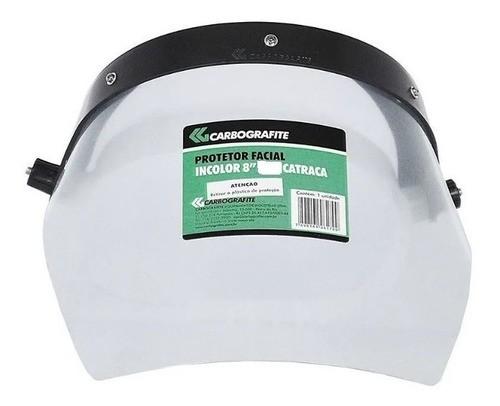 Protetor Facial 8'' Incolor c/ Catraca Carbografite EPI