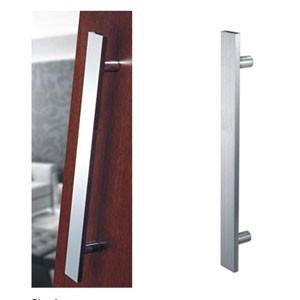 Puxador Inox Duplo Reto Para Porta Vidro/Madeira/Metal União Mundial 60cm  -  Polido