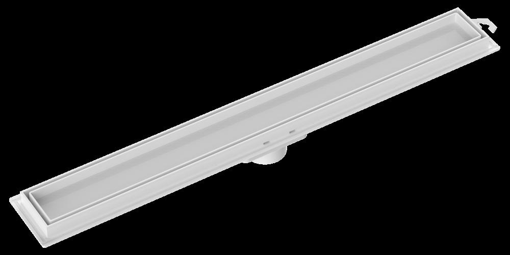 Ralo Linear Invisível Grelha Branca 50cm Tigre