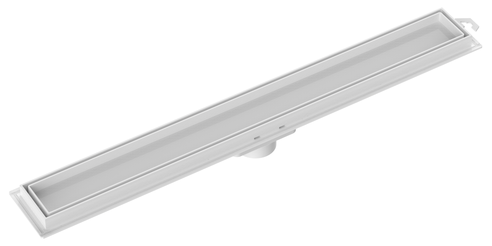 Ralo Linear Invisível Grelha Branca  90cm Tigre