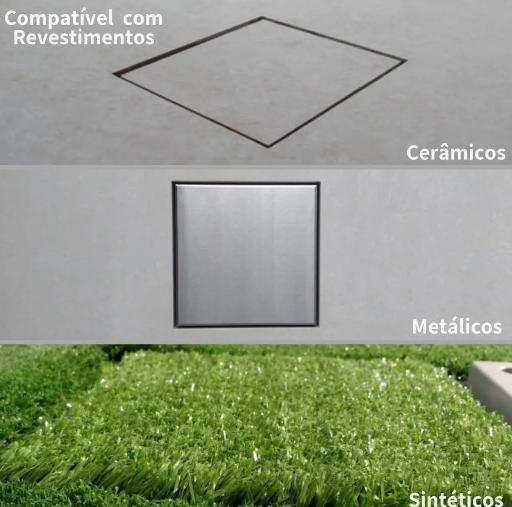 Ralo Square Invisível Oculto 15 x 15 Grupo Linear