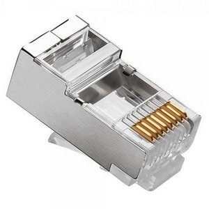100 Conectores RJ45 Cat5e Blindado 2FLEX
