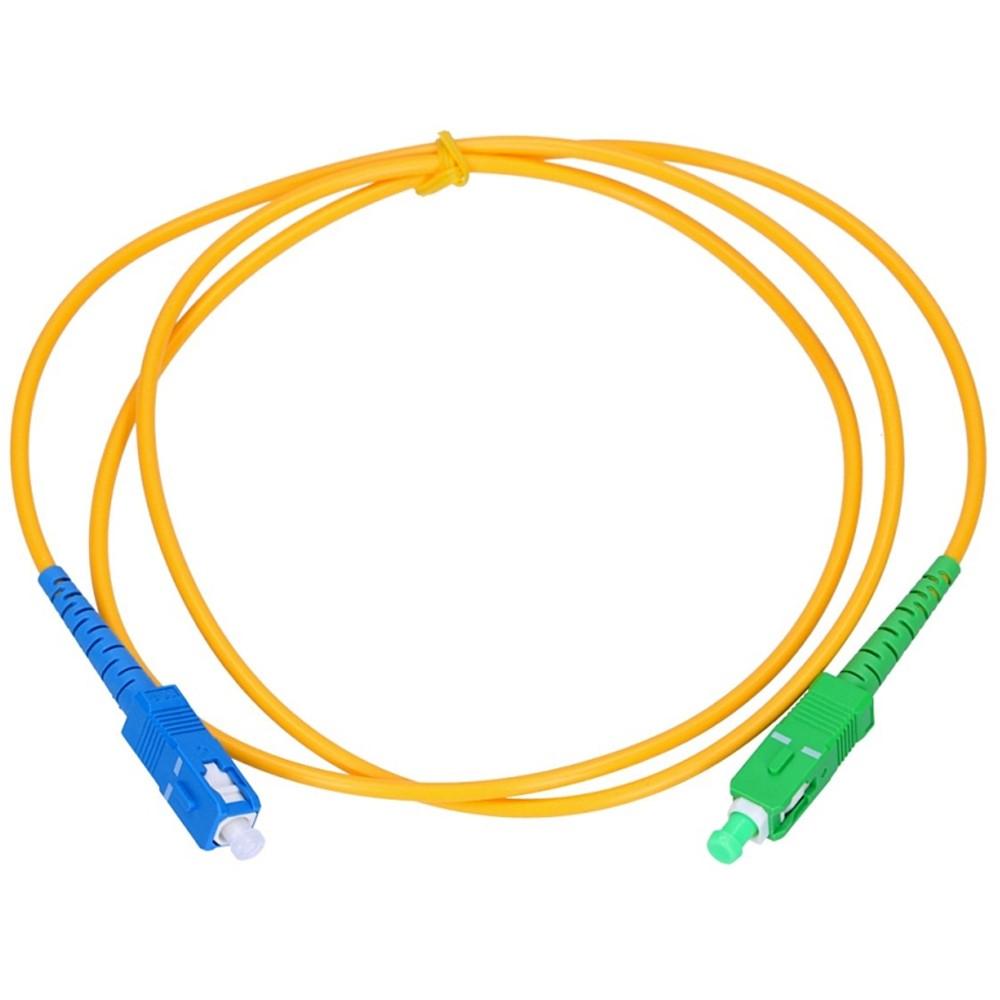 100 Cordão Óptico Patch Cord Simplex SC APC/SC UPC 2M 2FLEX
