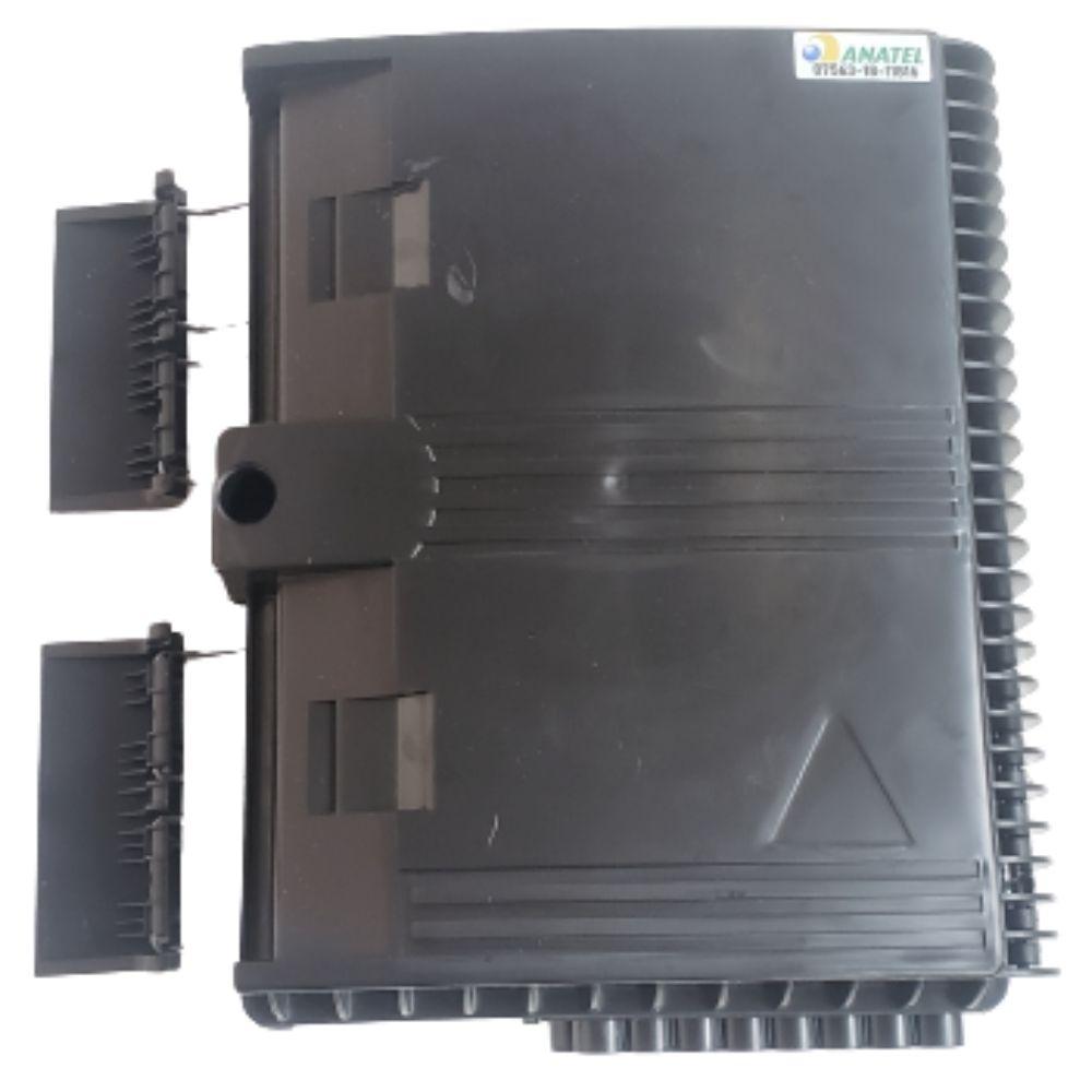 10 Caixa de Atendimento Óptico CTO 16 Portas Dupla Trava
