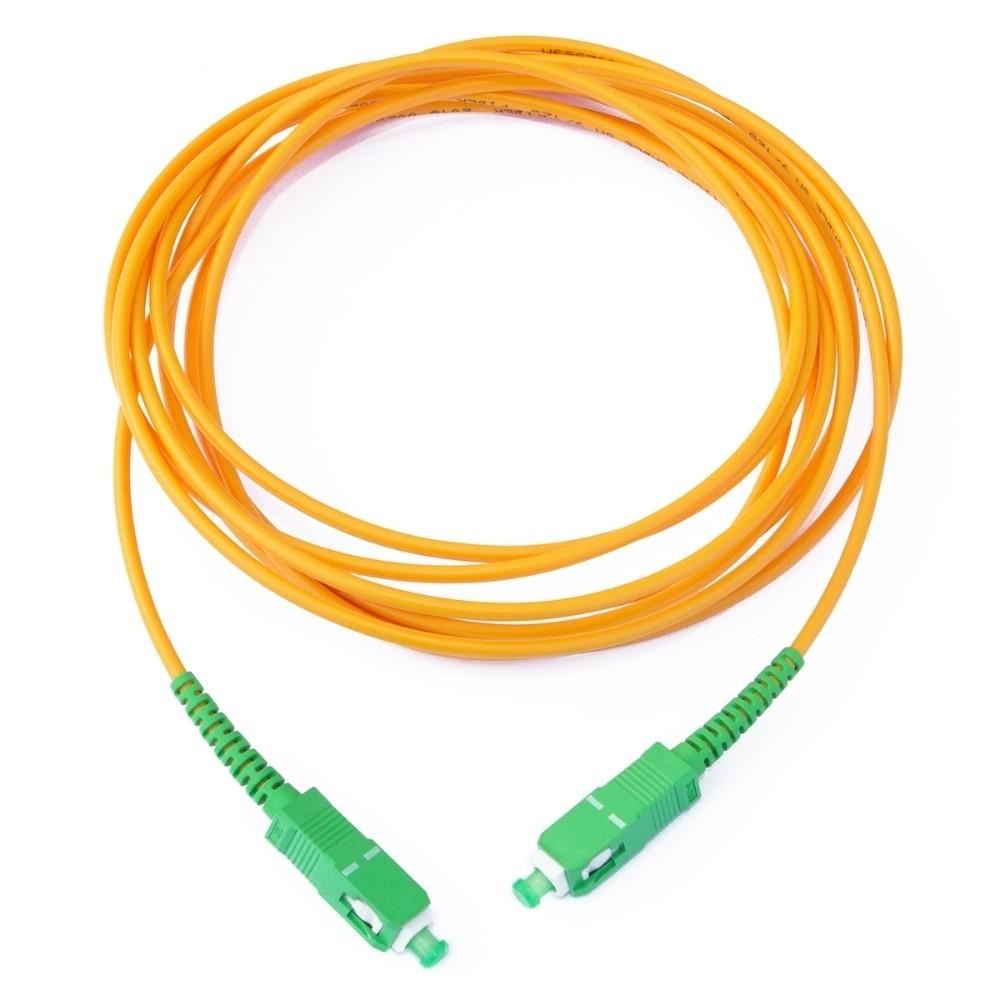 10 Cordão Óptico Patch Cord Simplex SC APC/SC APC 2M 2FLEX