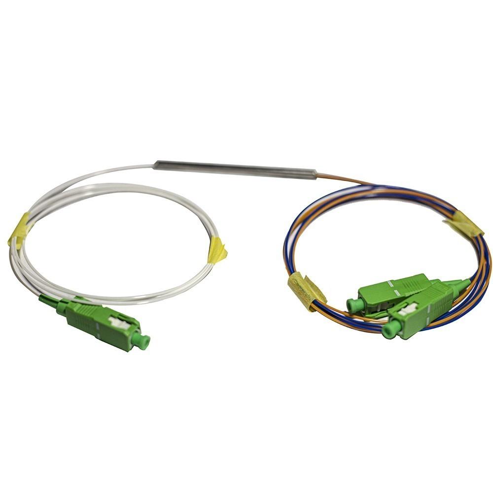 10 Splitter Óptico 1x2 Desbalanceado 10 90 Conectorizado SC APC 2FLEX
