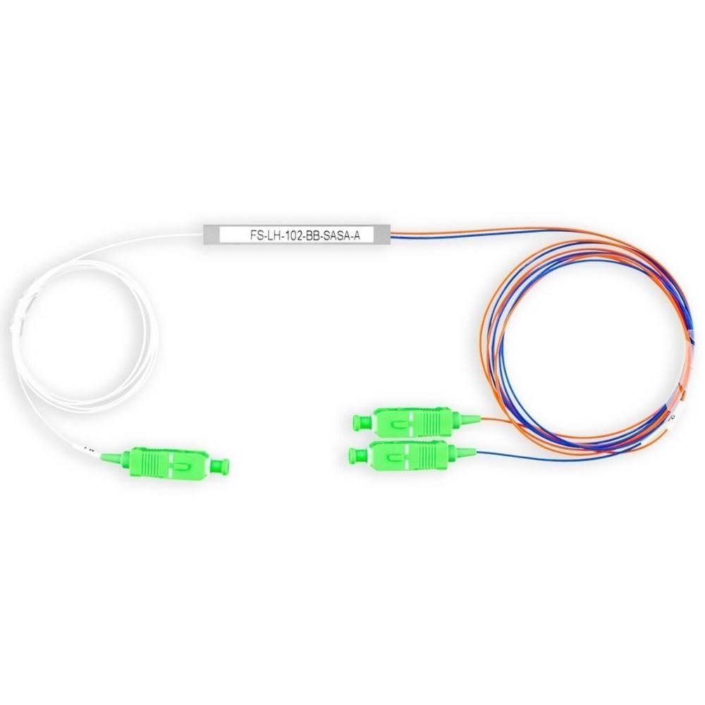 10 Splitter Óptico 1x2 Desbalanceado 20 80 Conectorizado SC APC TRANSCEND