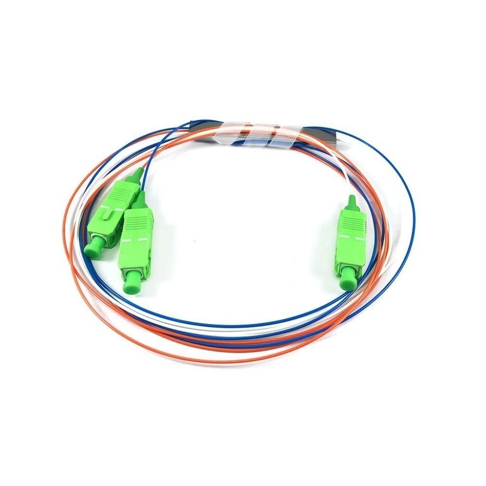 10 Splitter Óptico 1x2 Desbalanceado 30 70 Conectorizado SC APC TRANSCEND