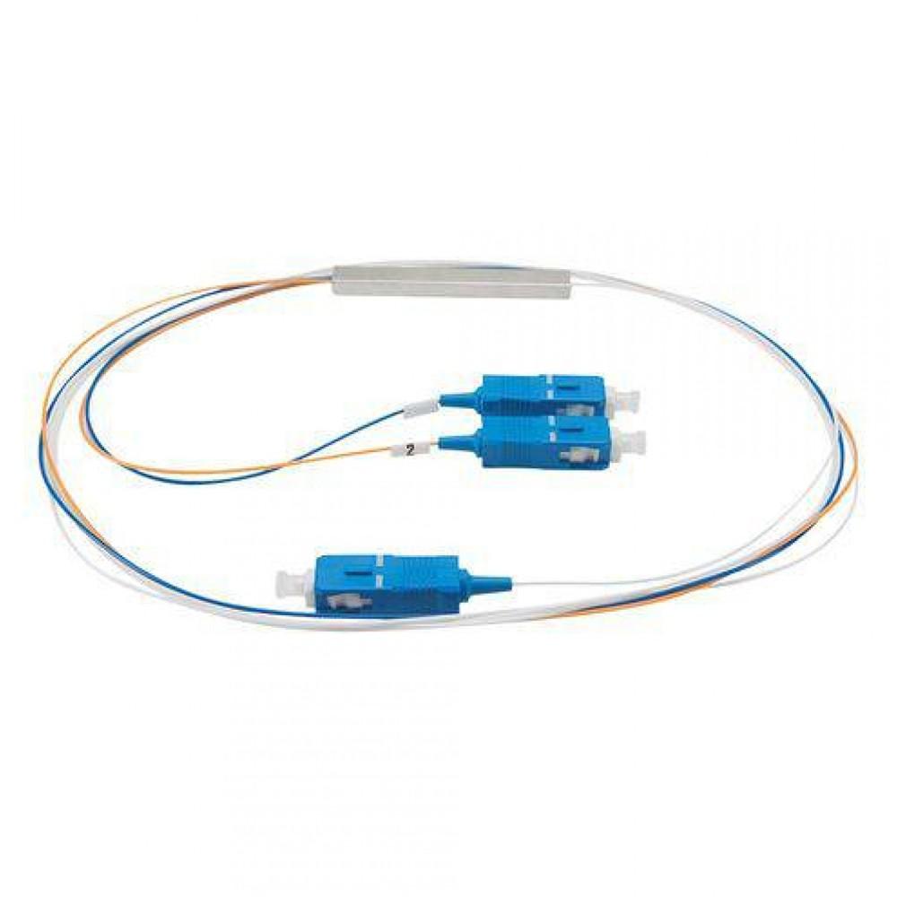 10 Splitter Óptico 1x2 Desbalanceado 30 70 Conectorizado SC UPC TRANSCEND