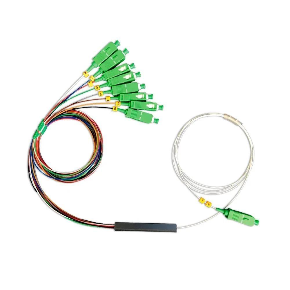 10 Splitter Óptico Balanceado 1x8 SC APC 2FLEX